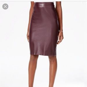 Bar111 faux leather skirt NWOT